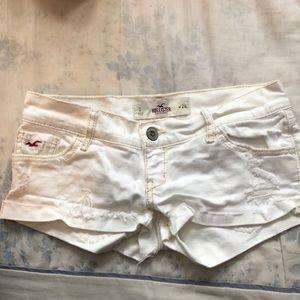 Jean, distressed shorts.